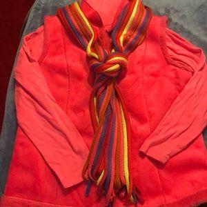 3pc set Vest t-neck scarf